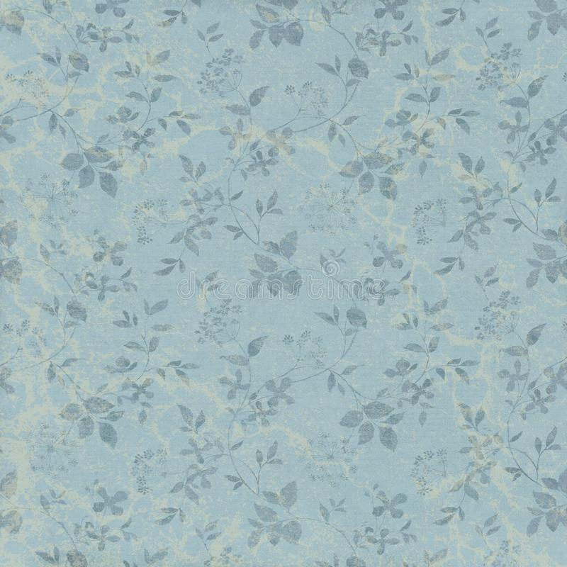 Free Vintage Blue Vine Patterned Background - French Provencial Style - Provence Royalty Free Stock Photography - 139985837