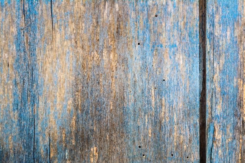 Vintage blue wood background texture. Blue abstract background. royalty free stock image