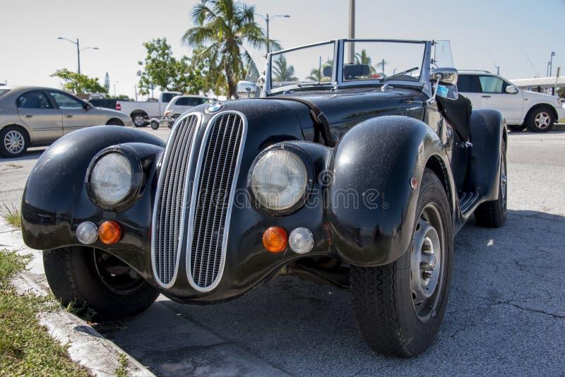 A Classic Vintage Black BMW Convertible