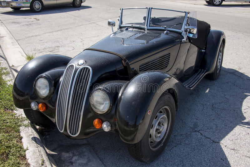 Vintage BMW Convertible stock images