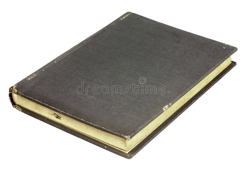 Vintage book. With torn cover in isolated royalty free stock photos