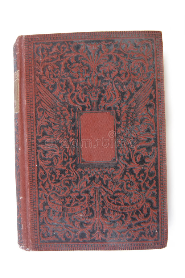 Vintage Book. A vintage book cover isolated on white royalty free stock photos