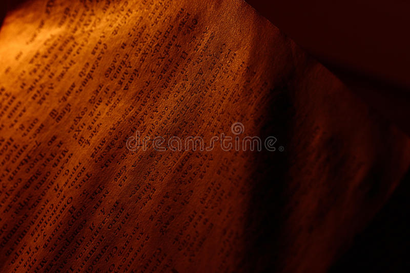 Vintage book candle stock photo