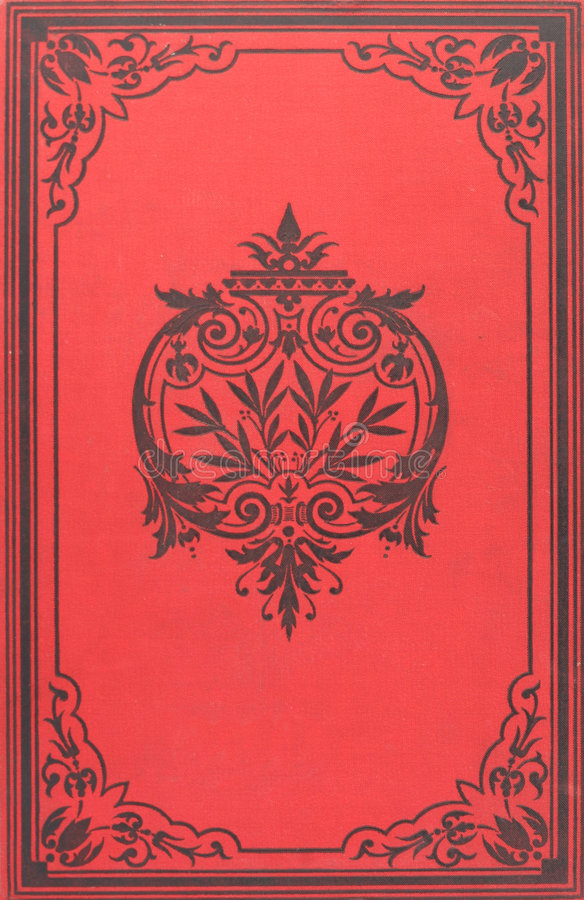 Vintage book cover stock image