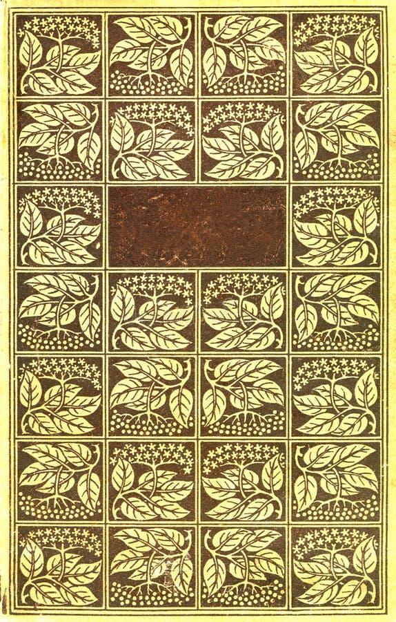 Vintage book cover stock illustration
