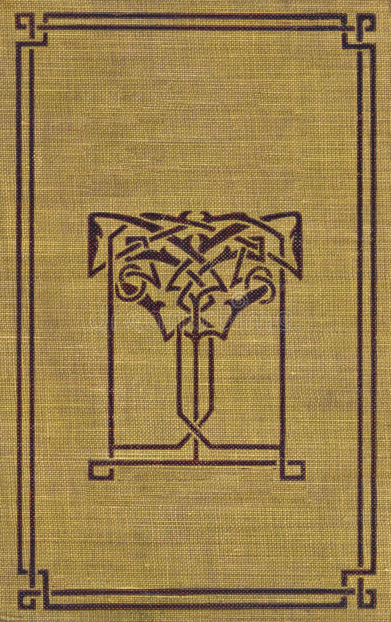 Vintage Book Cover with Decorative Trim royalty free stock photos