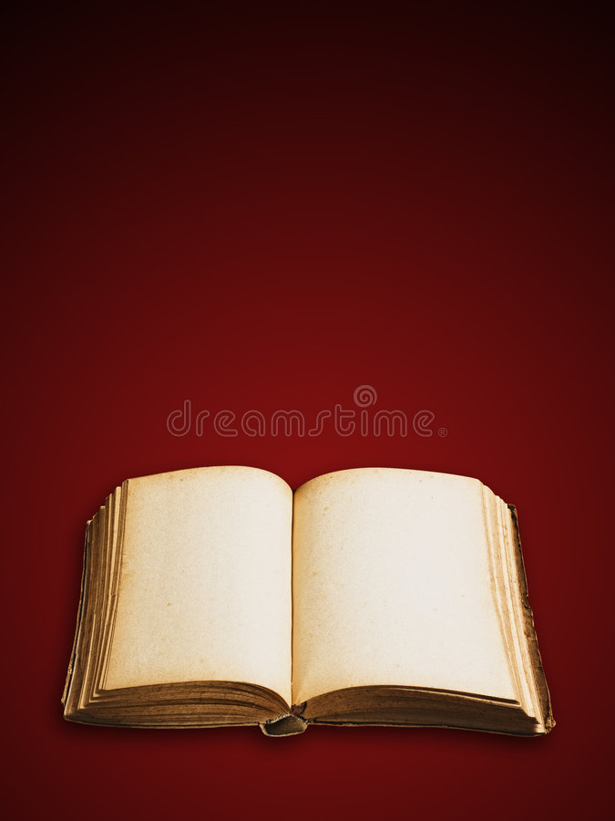 Vintage book isolated, clipping path royalty free stock image