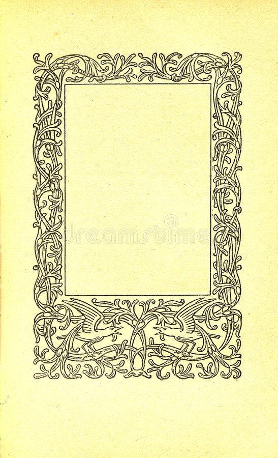 Vintage book page royalty free illustration