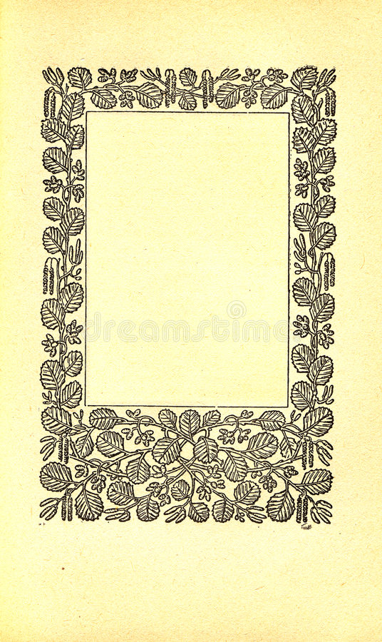 Vintage book page vector illustration
