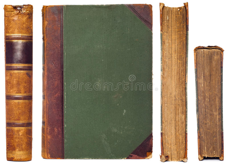 Vintage book sides set stock photos