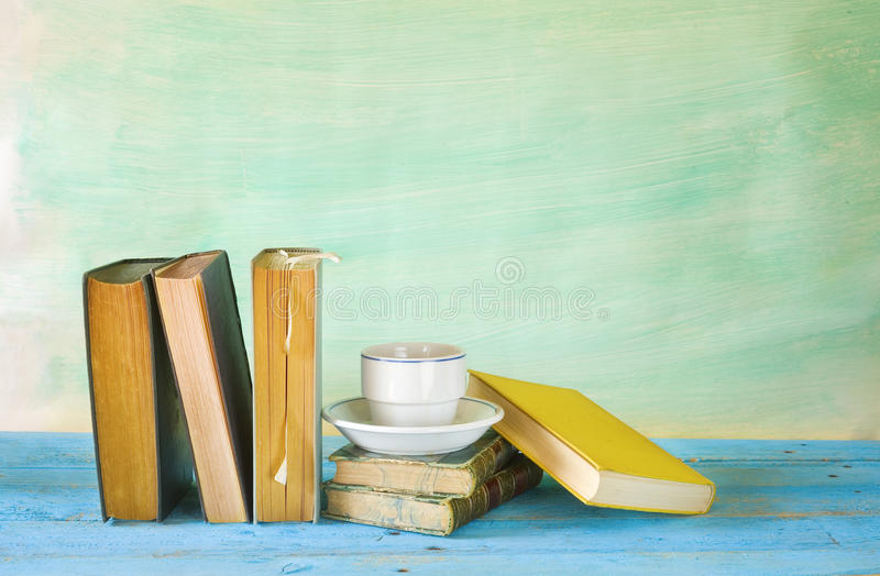 Vintage books stock images