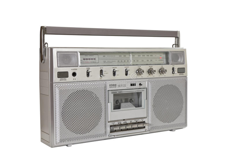 Vintage Boom Box Portable Radio Cassette stock images