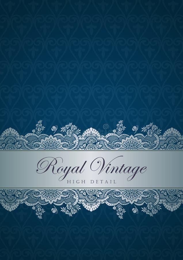 Vintage border design. Flourish ornament. Floral p royalty free illustration