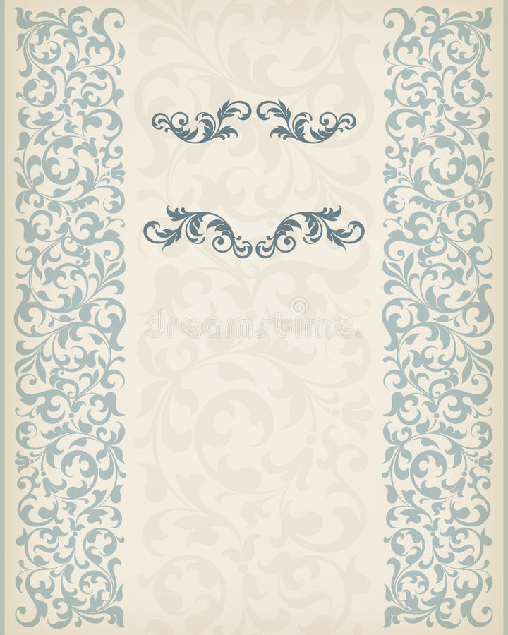 Free Vintage Border Frame Decorative Ornate Calligraphy Vector Stock Image - 30152071