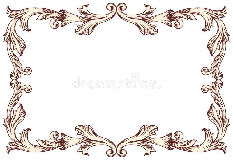 Vintage border frame. Vector illustration royalty free illustration