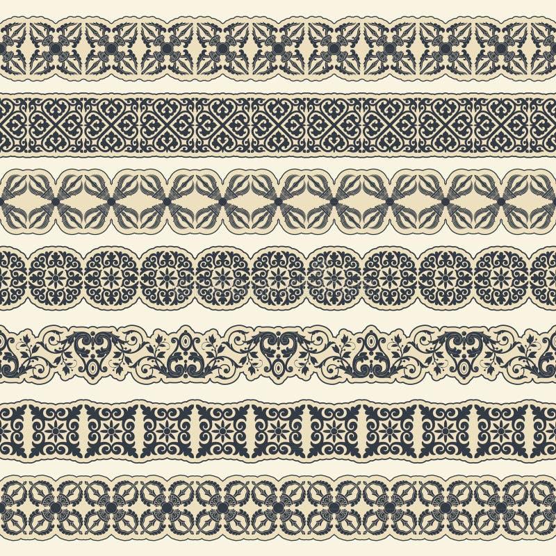Vintage border set for design royalty free illustration