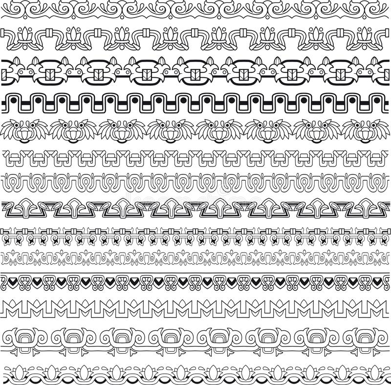 Vintage border set for design vector images. Blacl illustration stock illustration