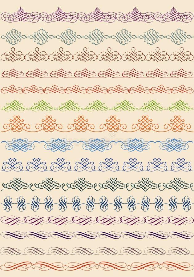 Vintage border, vector set royalty free illustration