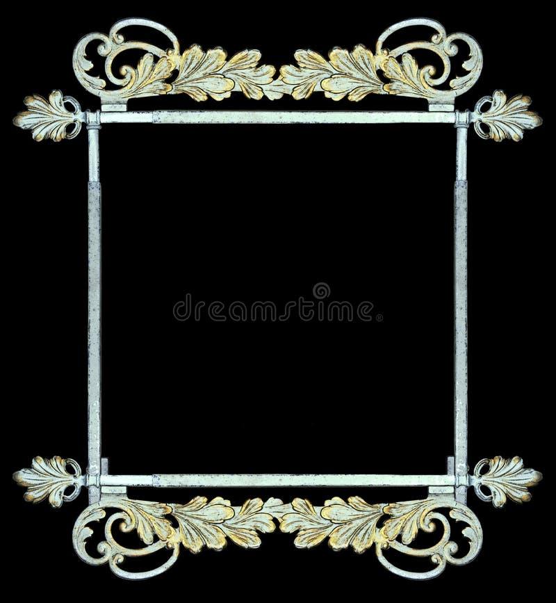 Vintage botanical metalwork as frame, sign royalty free stock photography