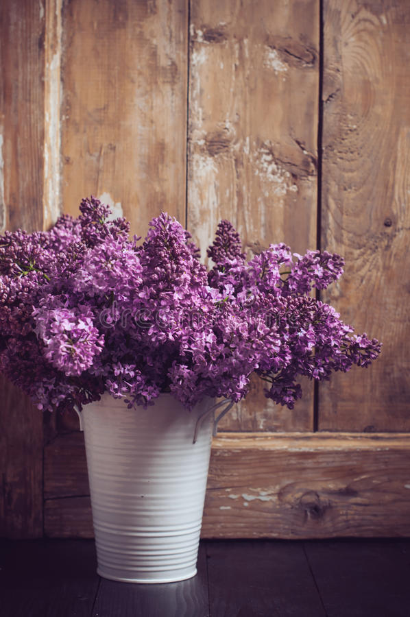 Vintage Bouquet Of Lilac Flowers Stock Image Image Of