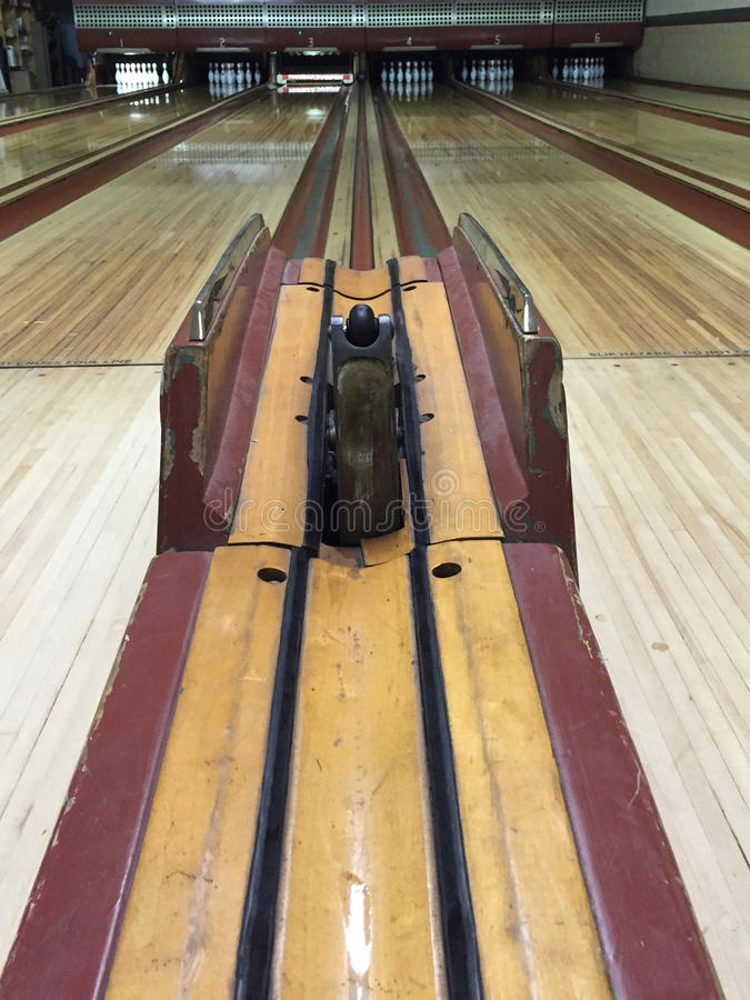 Vintage Bowling Alley royalty free stock image