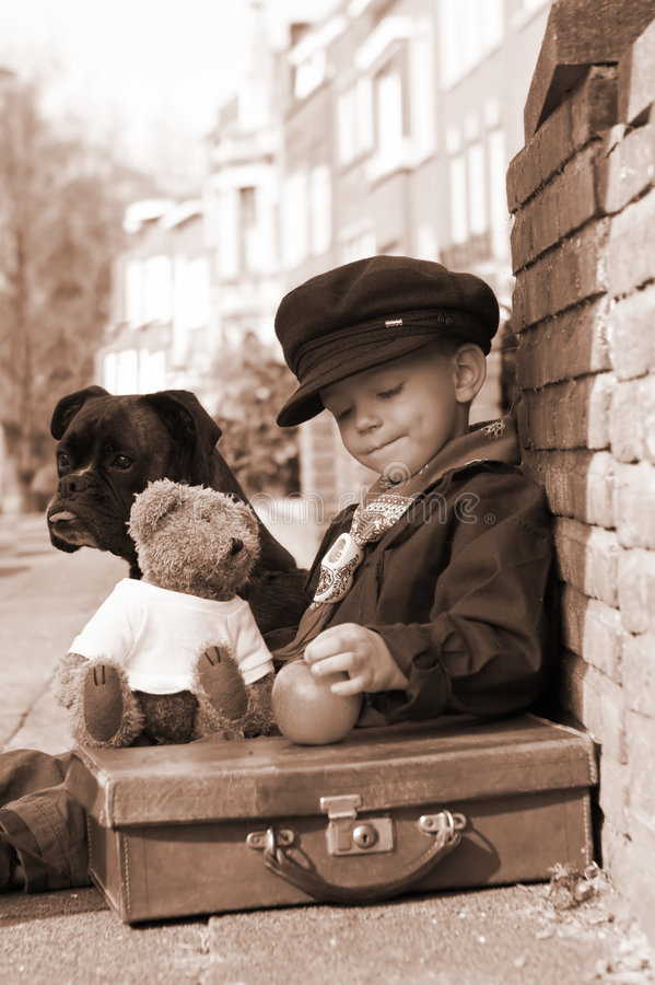 Free Vintage Boy In Sepia Stock Photo - 2391070