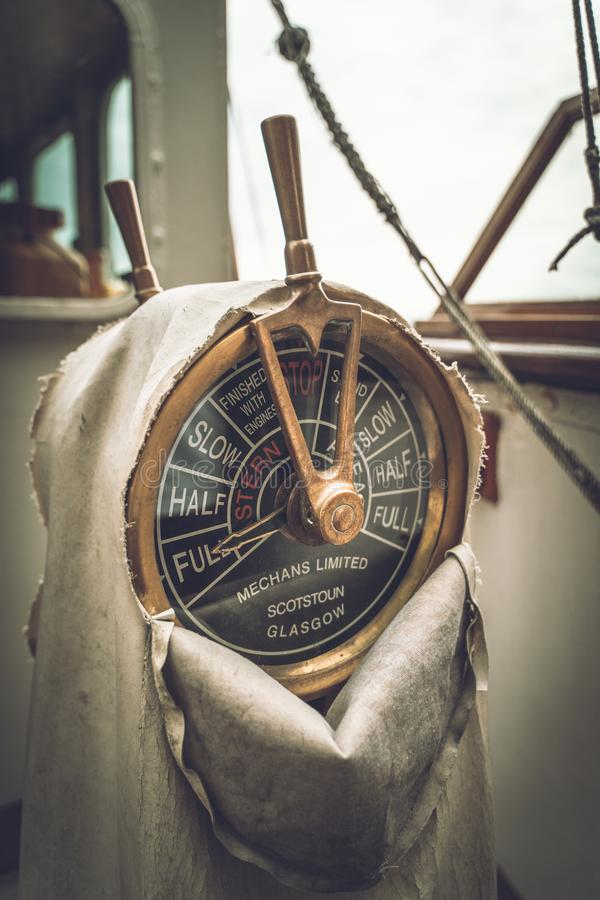 Space Engine Room: Vintage Submarine Engine Room Stock Image