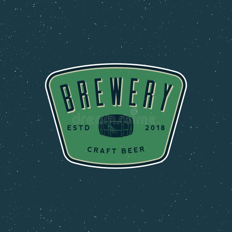 Vintage brewery logo. retro styled beer emblem. vector illustration royalty free illustration
