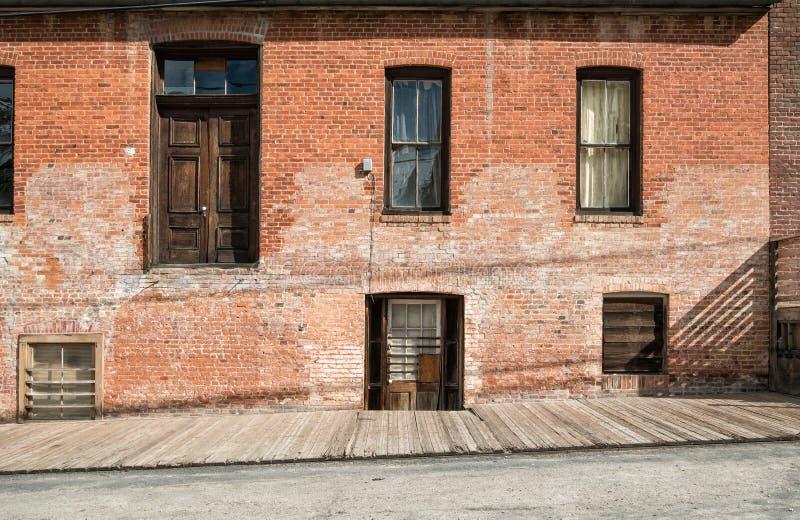 Vintage brick building, Virginia City, Nevada royalty free stock photography