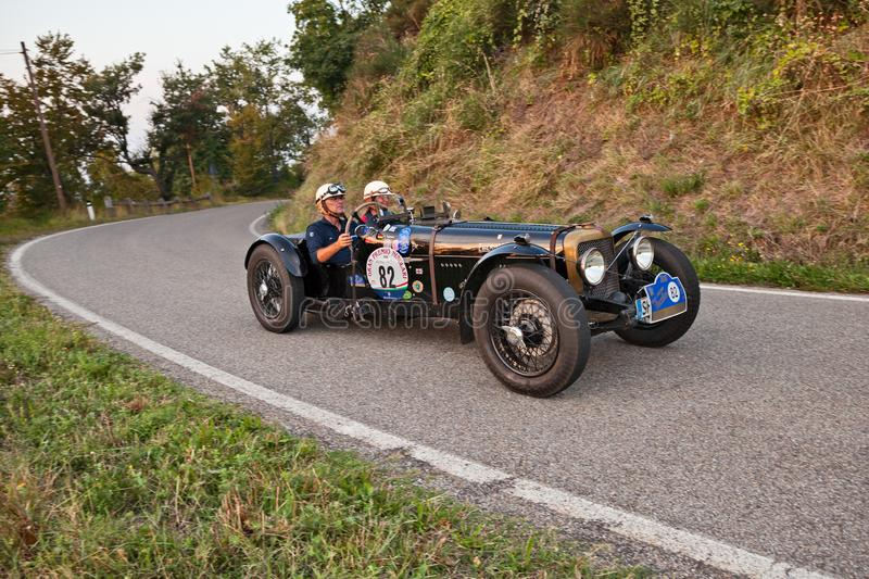 Vintage British sports car Alvis 12/70 Special 1939 in classic royalty free stock photos