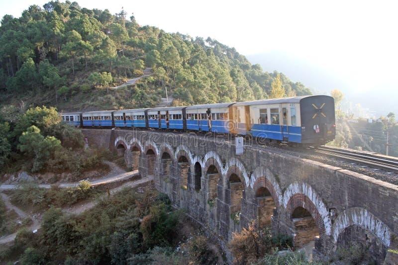 Vintage british train on himalayan terrain stock image