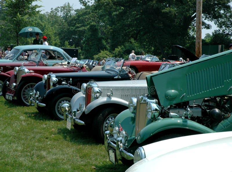 Vintage Brittish cars on display at Museum.