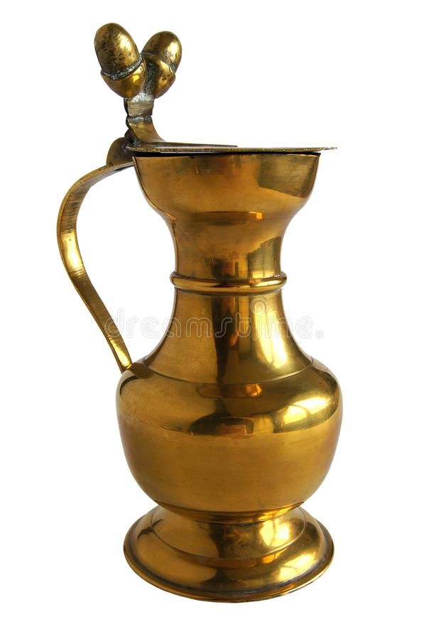 Vintage bronze or brass pitcher stock image
