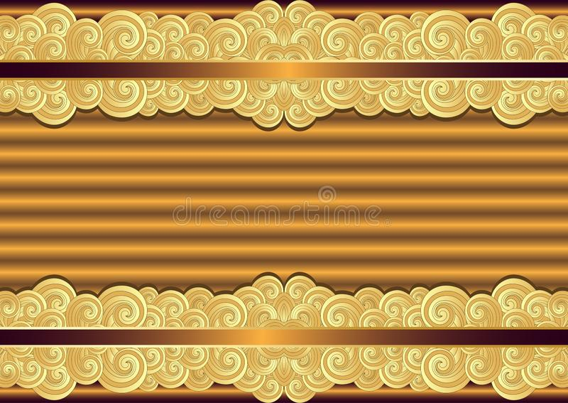 Vintage bronze and gold frame royalty free illustration