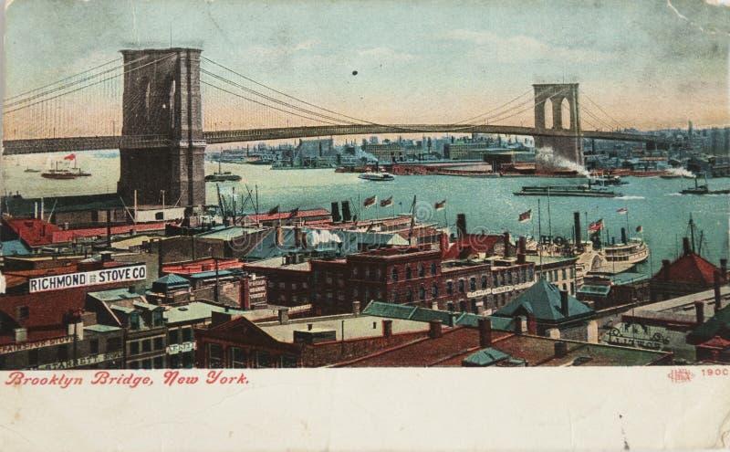 Vintage Brooklyn bridge royalty free stock photo
