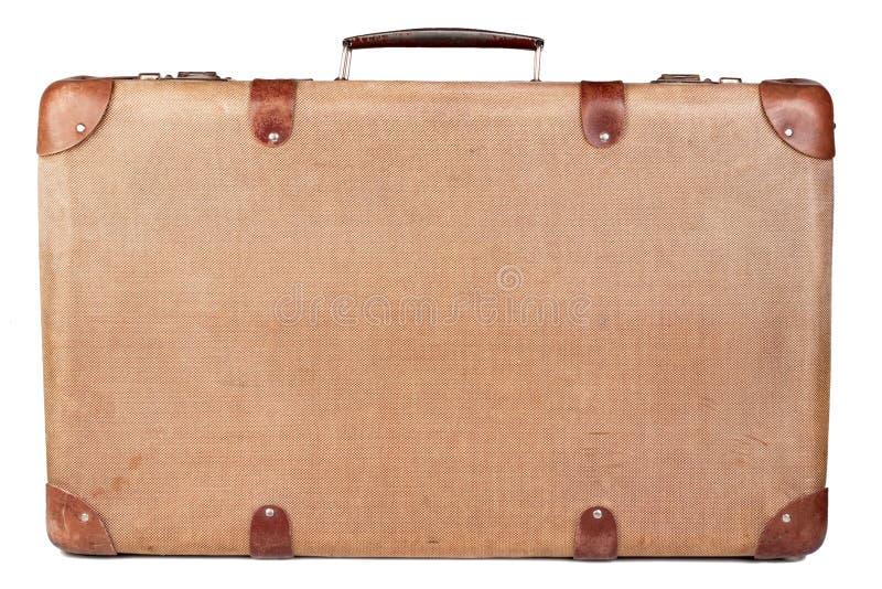 Vintage brown suitcase stock photos