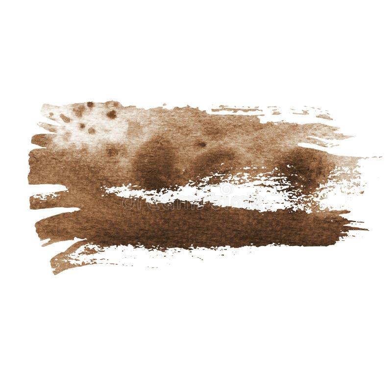 Vintage brown watercolor brush strokes royalty free stock image