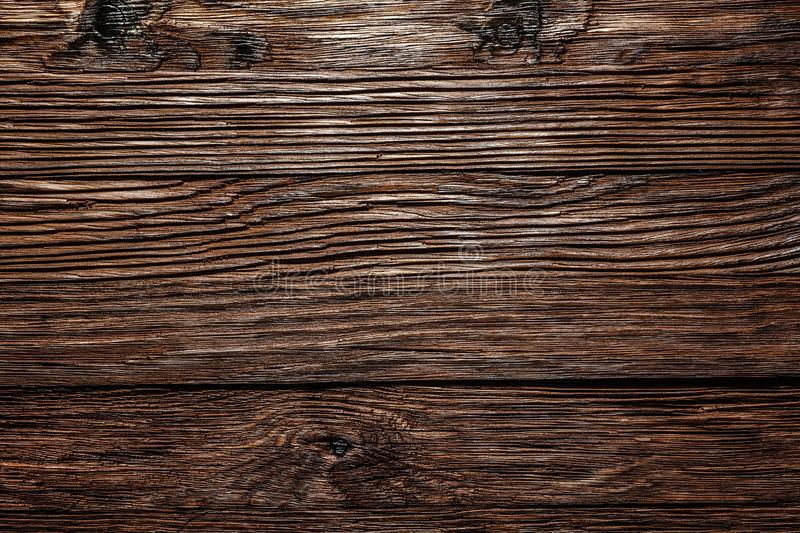 Vintage brown wooden surface top view royalty free stock image