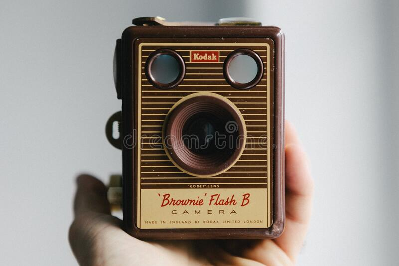 Vintage Brownie camera royalty free stock photo