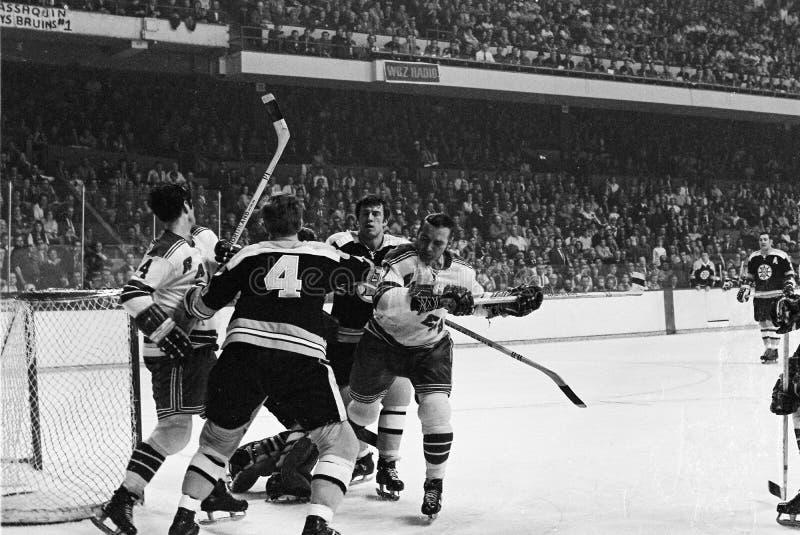 Vintage Bruins -- Ranger battle. stock images
