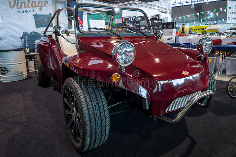 Vintage Buggy by Quadix. STUTTGART, GERMANY - MARCH 02, 2017: Vintage Buggy by Quadix. Europe`s greatest classic car exhibition `RETRO CLASSICS stock image
