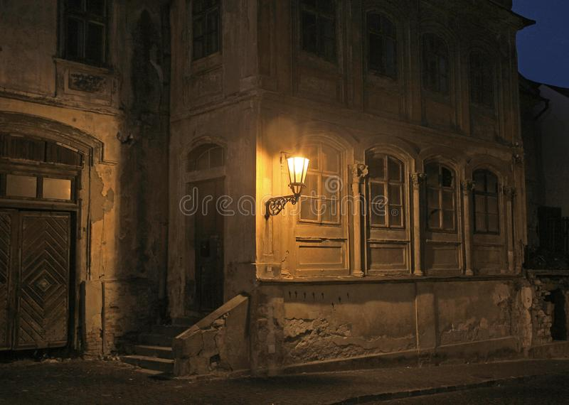 Vintage building in Banska Stiavnica stock photography