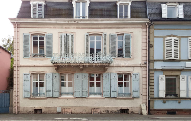 Vintage building with beautiful facade stock photos