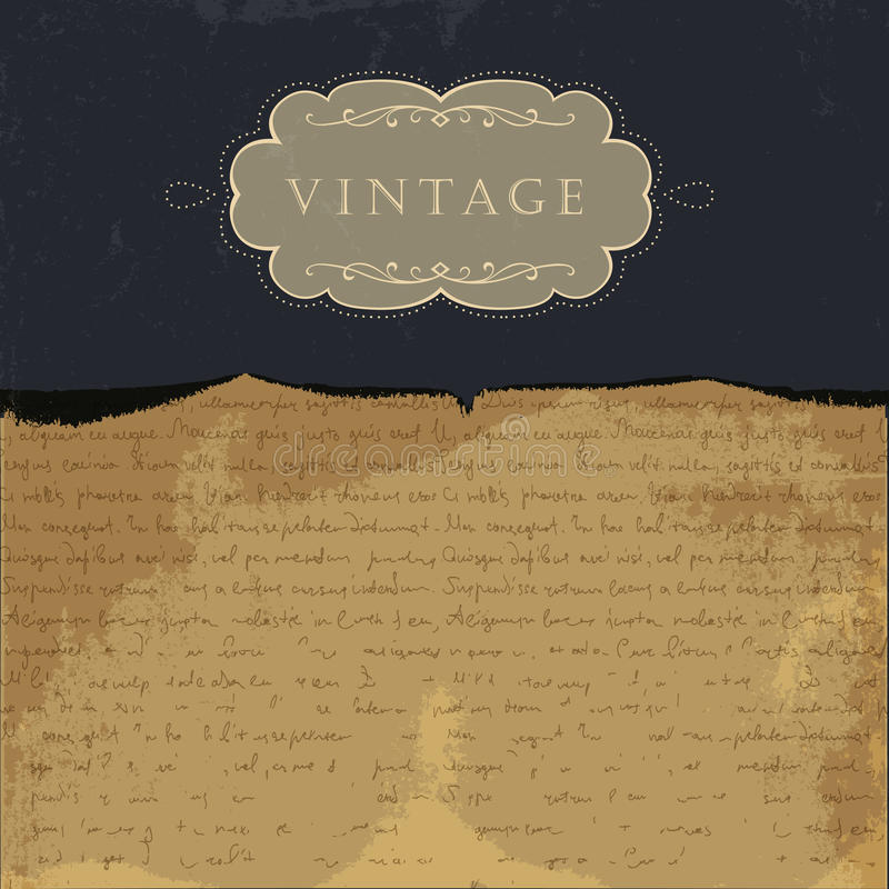 Vintage burned paper background royalty free illustration