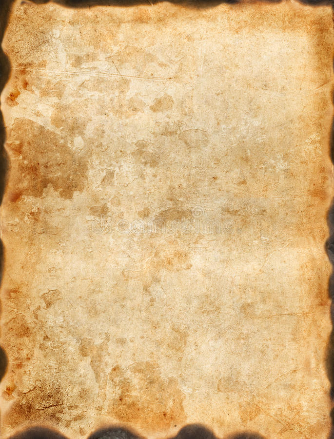 Vintage burnt paper stock image