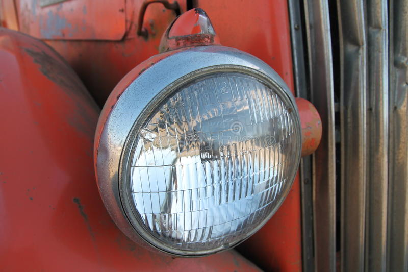 Download Vintage bus headlamp stock photo. Image of grill, public - 28451120