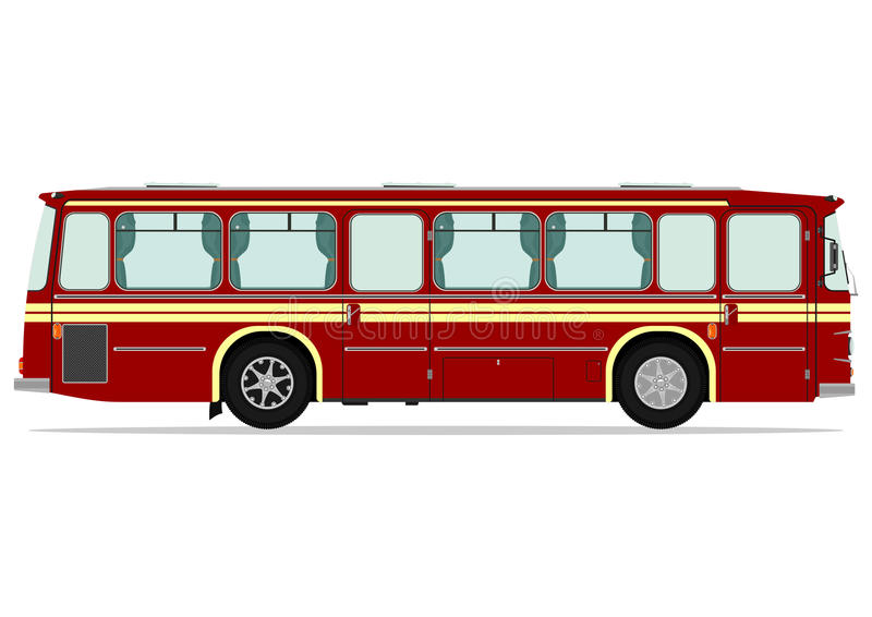Vintage bus stock illustration