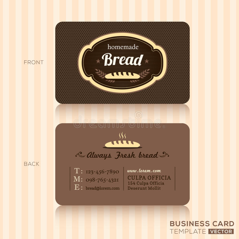 Vintage business card for bakery shop stock vector illustration of download vintage business card for bakery shop stock vector illustration of chocolate coffee reheart Gallery