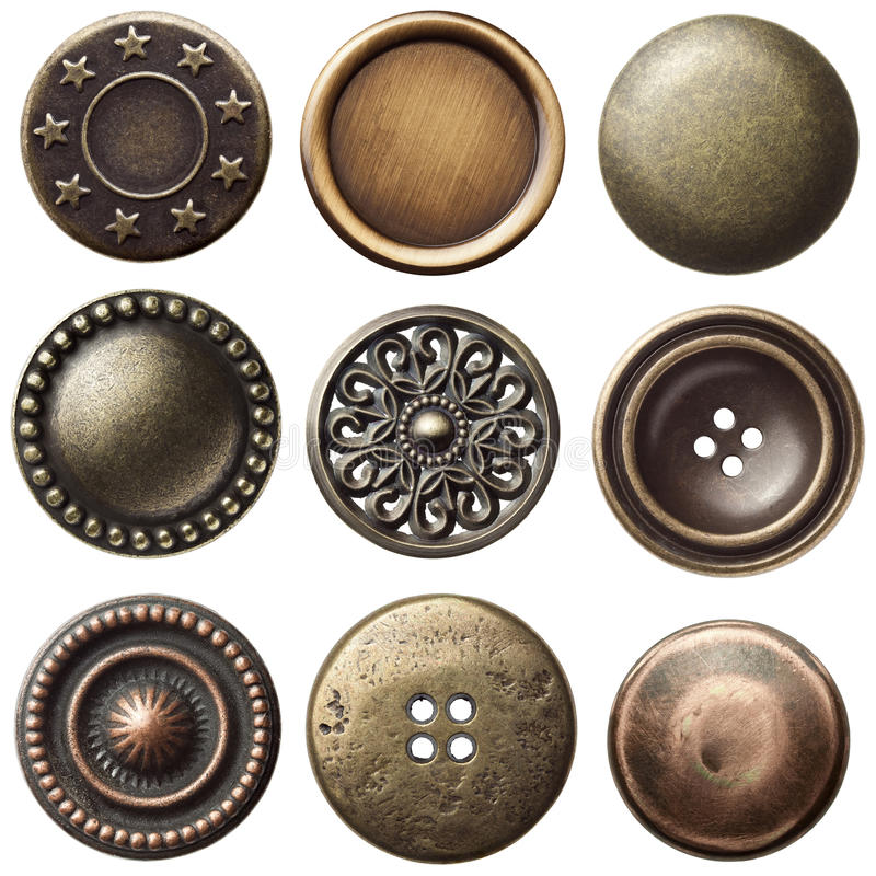 Vintage buttons royalty free stock photos