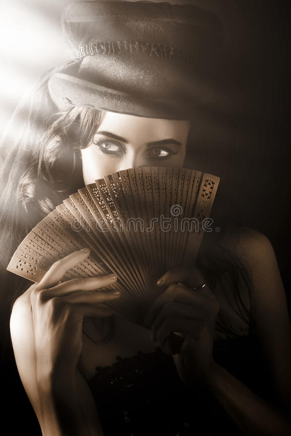Download Vintage Cabaret Show Girl In Stage Spotlight Stock Image - Image: 29125321